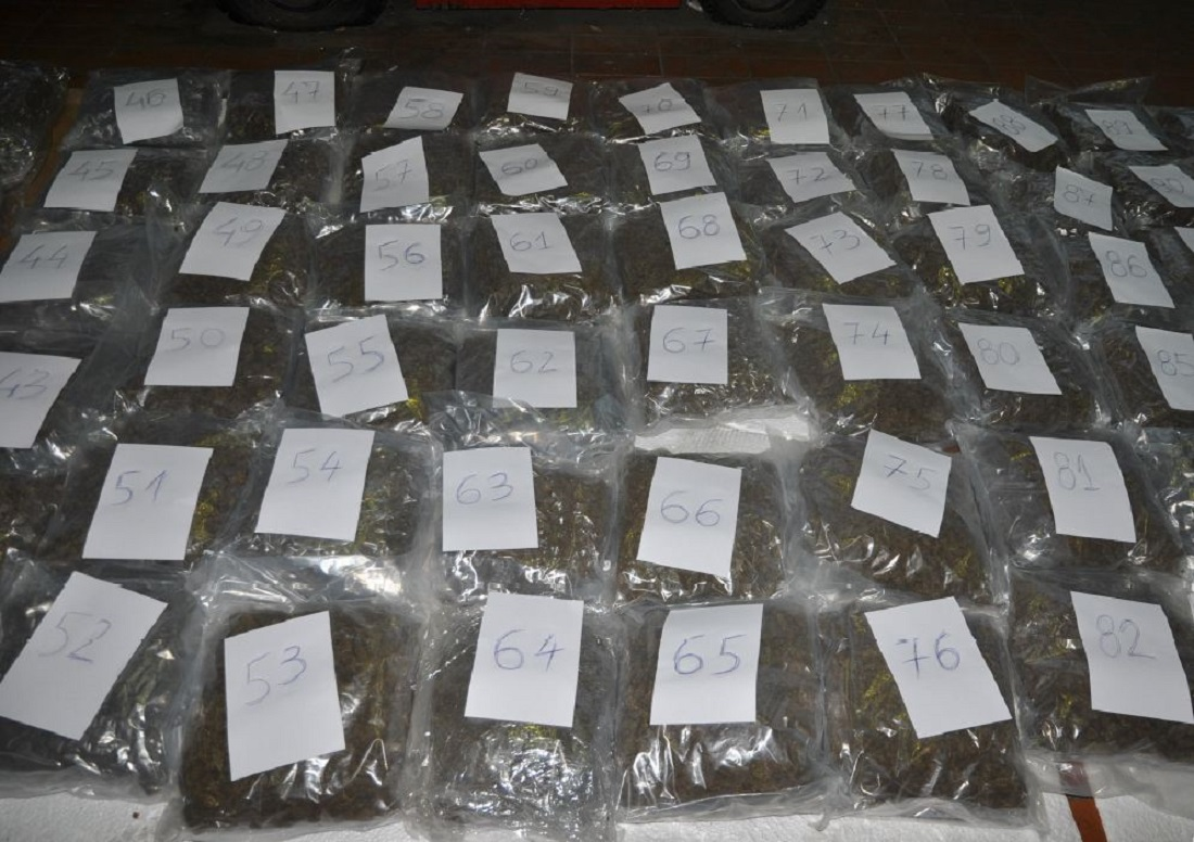 Половина тон марихуана запленета на ГП Богородица (галерија)