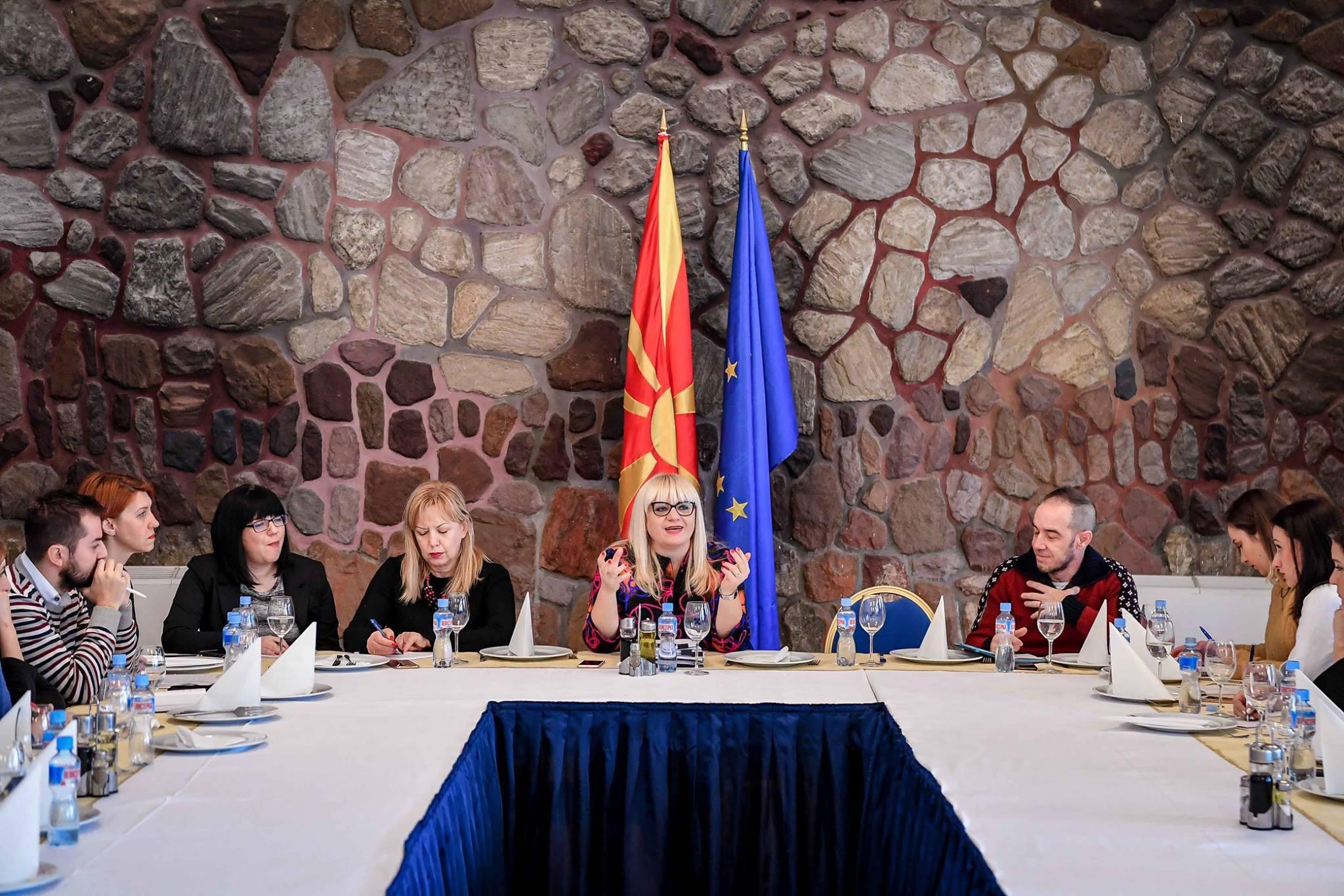 Министерката Дескоска на брифинг со медиумите