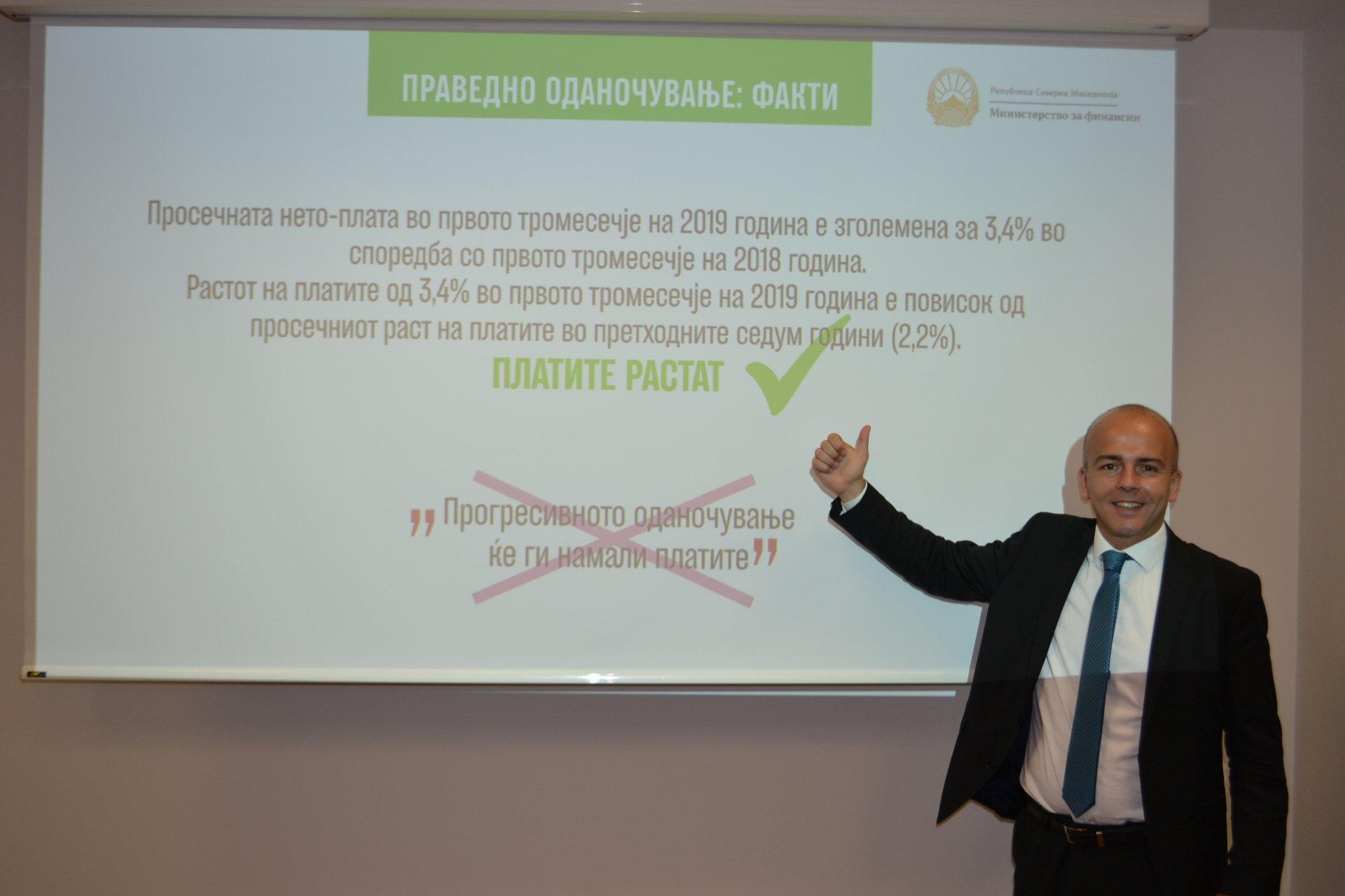 Тевдовски: Праведниот данок е успешна реформа