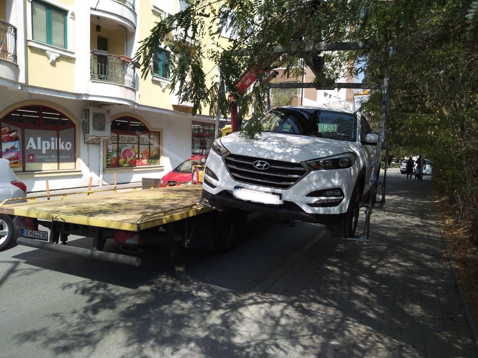За една недела казнети 333 возачи за непрописно паркирање во Центар