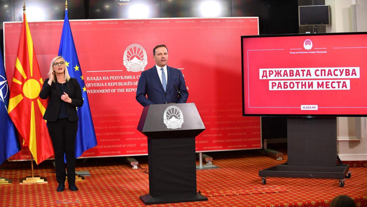 Спасовски: По 14.500 денари месечно по вработен за април и мај или 50 отсто од трошоците за придонеси за секој вработен